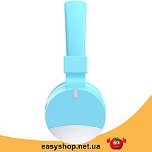 Бездротові навушники Gorsun GS-E86 - Bluetooth стерео навушники з MP3 плеєром і FM радіо (Блакитні) Топ, фото 2