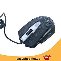 Клавиатура V-100P + мышка - игровой комплект проводная клавиатура с 3-мя подсветками + мышь, фото 3