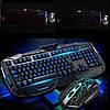Клавиатура V-100P + мышка - игровой комплект проводная клавиатура с 3-мя подсветками + мышь, фото 5