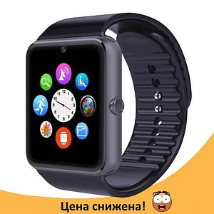 Розумні годинник Smart Watch GT08 Black - смарт годинник під SIM-карту Топ