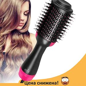 Фен-щетка для волос One Step 3 в 1 - Электрическая расческа для укладки и выпрямления, утюжок, плойка, стайлер