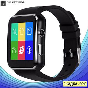 Розумні годинник Smart Watch X6 black - смарт годинник зі слотом під SIM карту Чорні Топ