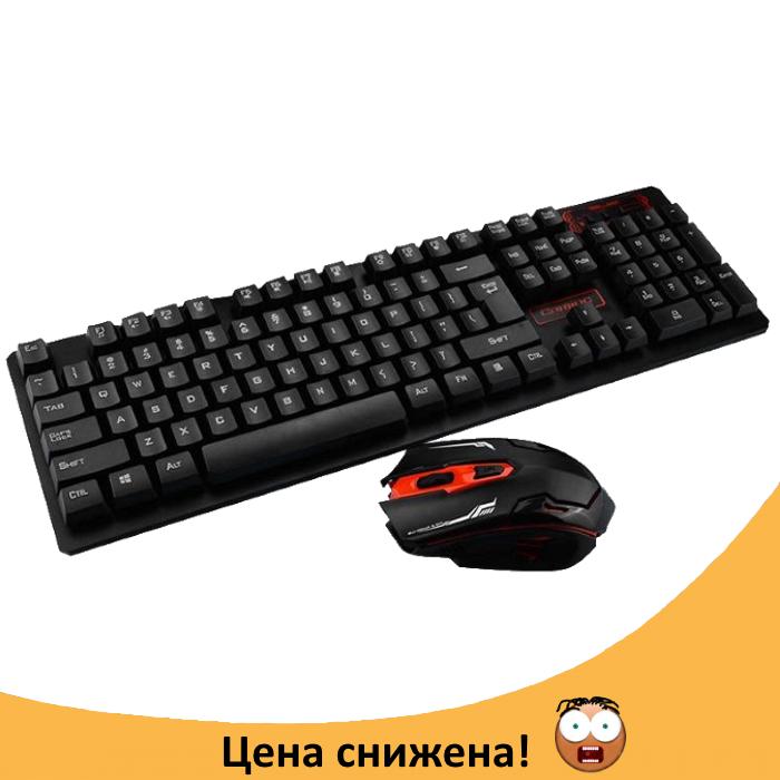 Бездротова ігрова клавіатура і миша UKC HK-6500 Топ