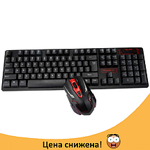 Беспроводная игровая клавиатура и мышь UKC HK-6500, фото 2