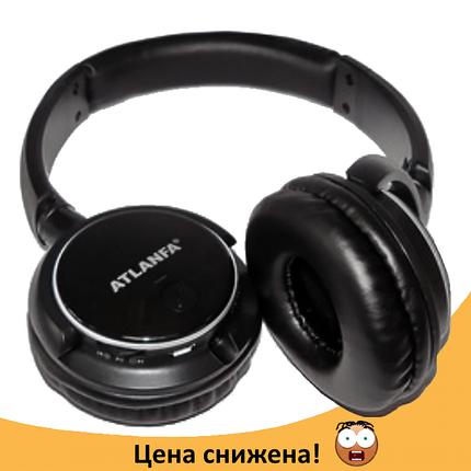 Беспроводные наушники ATLANFA AT-7612 - Bluetooth стерео наушники с MP3 плеером и FM радио, фото 2