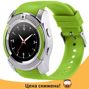 Розумні годинник Smart Watch V8 сенсорні - смарт годинник Зелені Топ