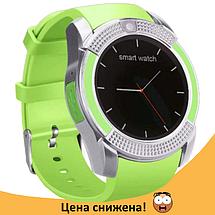 Розумні годинник Smart Watch V8 сенсорні - смарт годинник Зелені Топ, фото 2