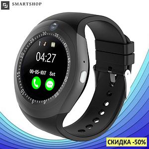 Розумні смарт годинник Smart Watch Y1S з слотом під SIM карту Чорні Топ