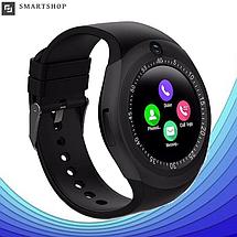 Розумні смарт годинник Smart Watch Y1S з слотом під SIM карту Чорні Топ, фото 2