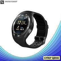 Розумні смарт годинник Smart Watch Y1S з слотом під SIM карту Чорні Топ, фото 3