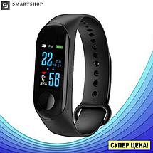 Фитнес браслет Xiaomi Smart Band M3 Black (Реплика) - цветной экран, умные часы, шагомер, пульсометр, фото 3