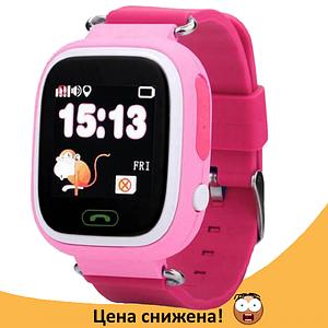 Дитячі Розумні годинник з GPS Smart baby watch Q90 рожеві - Дитячі смарт годинник-телефон з трекером і кнопкою