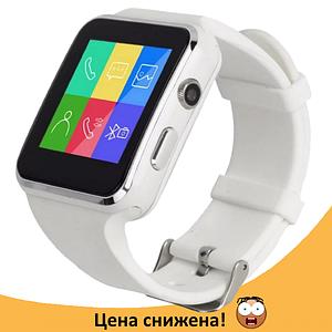 Розумні годинник Smart Watch X6 white - смарт годинник зі слотом під SIM карту Білі Топ