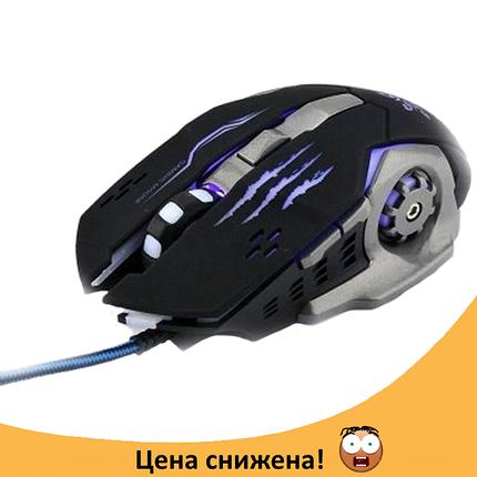 Ігрова мишка GAMING MOUSE X1 - провідна миша з LED з підсвічуванням 4800 dpi Топ, фото 2