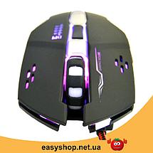Ігрова мишка GAMING MOUSE X1 - провідна миша з LED з підсвічуванням 4800 dpi Топ, фото 3