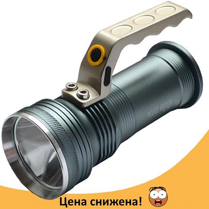 Фонарь прожектор Police BL-T801 - мощный супер яркий переносной ручной фонарик, фонарик с зумом, фото 2