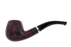Курительная трубка BB 1.8 x 3.3 Черная с коричневым BB037, КОД: 955706