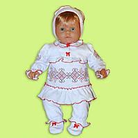 Нарядный детский комплект для девочки вышивка