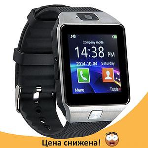 Розумні годинник Smart Watch DZ-09 Grey - смарт годинник під SIM-карту і карту SD (Сірі) Топ