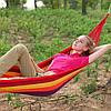 Гамак одномісний KingCamp Canvas Наммоск 200*100 см - Тканинний бавовняний підвісний гамак Топ, фото 4