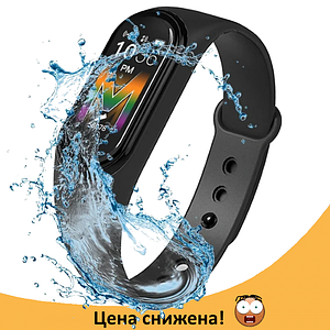Фітнес браслет Xiaomi Mi Band M5 Black (Репліка) - Фітнес трекер, смарт браслет, крокомір, пульсометр Топ