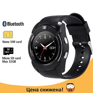 Розумні годинник Smart Watch V8 сенсорні - смарт годинники Чорні Топ