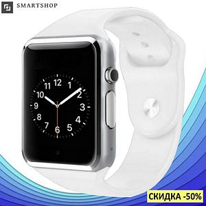 Розумні годинник Smart Watch Phone A1, смарт годинник в стилі Apple Watch Білі Топ