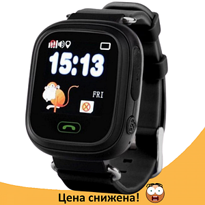 Дитячі Розумні годинник з GPS Smart baby watch Q90 чорні - Дитячі смарт годинник-телефон з трекером і кнопкою