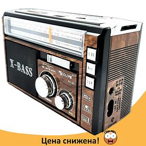 Радиоприемник с фонарем Golon RX-381 - Радио с MP3, USB/SD и LED фонариком (Brown)