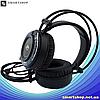 Ігрові навушники A5 зі світлодіодним підсвічуванням і мікрофоном - провідні комп'ютерні навушники USB, AUX,, фото 2