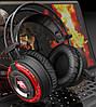 Ігрові навушники A5 зі світлодіодним підсвічуванням і мікрофоном - провідні комп'ютерні навушники USB, AUX,, фото 6