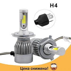 Комплект автомобільних LED ламп C6 H4 - Світлодіодні лампи, Автолампи, Ближнє, дальнє світло, Автосвітло Топ