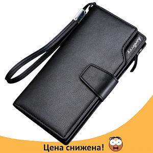 Клатч чоловічий гаманець портмоне барсетка гаманець Baellerry business S1063 Black Топ