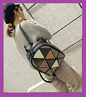 Городской женский рюкзак черный, Модные городские рюкзаки женские, Женский рюкзачок эко кожа