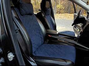 Накидки на передние сиденья Motowey из искусственной замши Темно-синий 2619s, КОД: 1282285