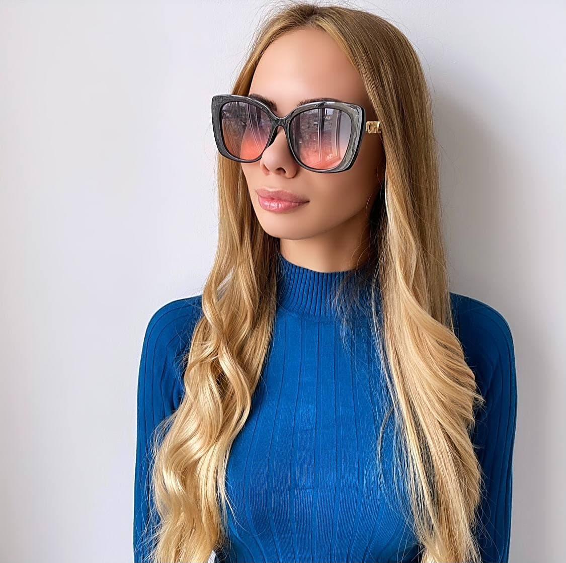 Женские  солнцезащитные очки бабочка