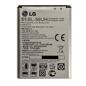 Аккумулятор BL-59UH для LG Optimus G2 mini D618 G2 mini LTE D620 L65 D285 2440 mAh 3786, КОД: 137140