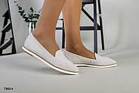 Туфли балетки светло-бежевые замшевые