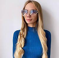 Жіночі блакитні сонцезахисні окуляри, фото 1