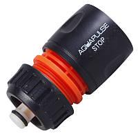 """Конектор з'єднувач c автостопом Aquapulse Standart для шлангу 1/2"""" - 5/8"""""""