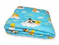 Одеяло зимнее из овечьей шерсти в детскую кроватку 105*140, фото 1