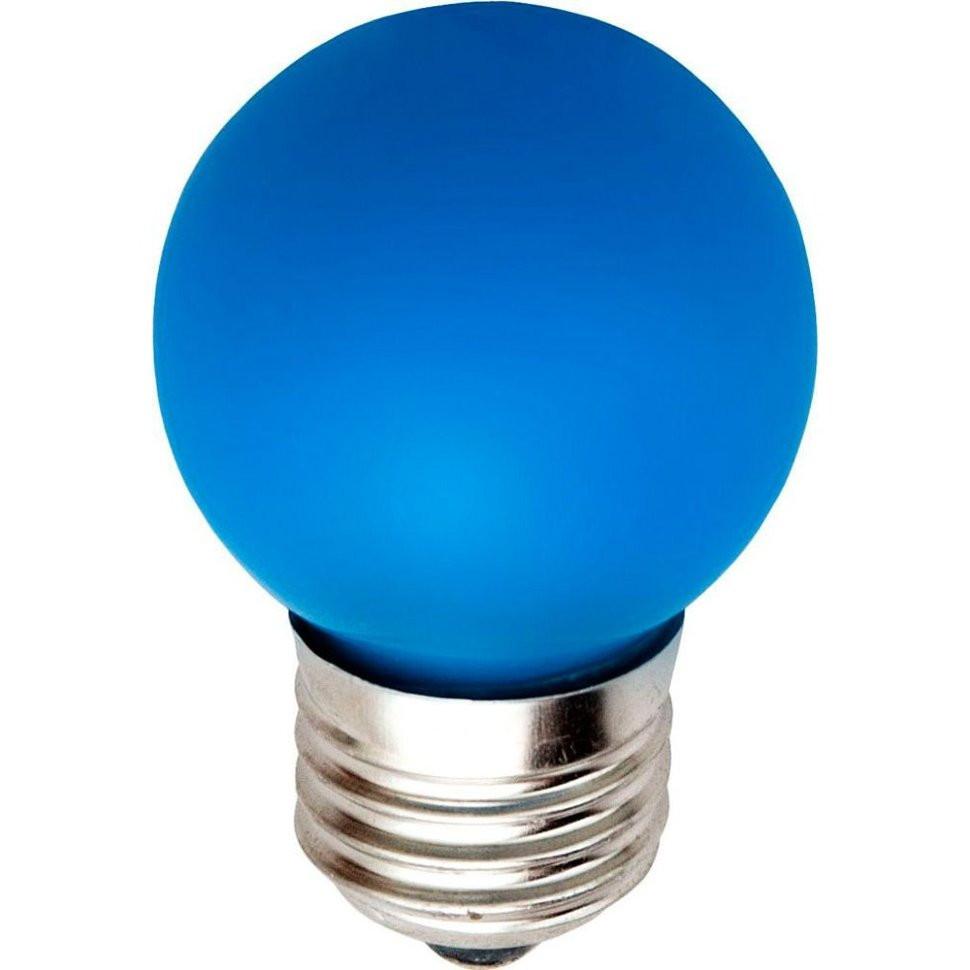 Лампа светодиодная LB-37 G45 230V 1W E27 синяя