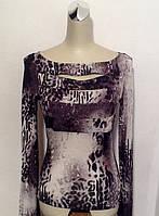 Кофта тонкая женская Balizza серая цветная с длинным рукавом