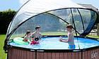 Бассейн 360 х 76 см с куполом EXIT дерево, фото 8