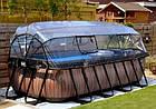 """Басейн EXIT з куполом 400х200х100см """"камінь"""" пісочний фільтр + тепловий насос, фото 8"""