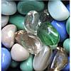 Cтеклянные камешки декоративные микс