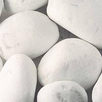 Камни декоративные Мраморная галька белая Каррара 150-300 мм