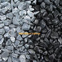 Черная галька декоративная мраморная 7-15 мм