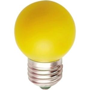 Лампа светодиодная LB-37 G45 230V 1W E27 жёлтая