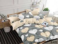 Комплект постельного белья из сатина  Сердца, разные размеры S470